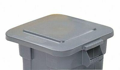 brute series trash can top square flat