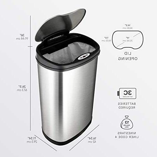 NINESTARS Infrared Motion Can Combo Gal & Gal 12L, Stainless Base