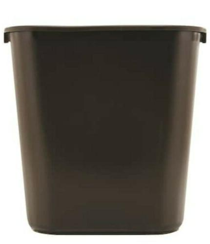commercial products 7 gallon black plastic touchless