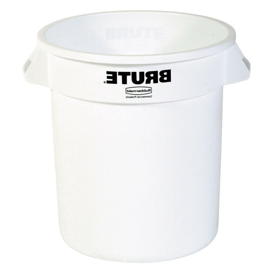 commercial products brute 10 gallon white plastic