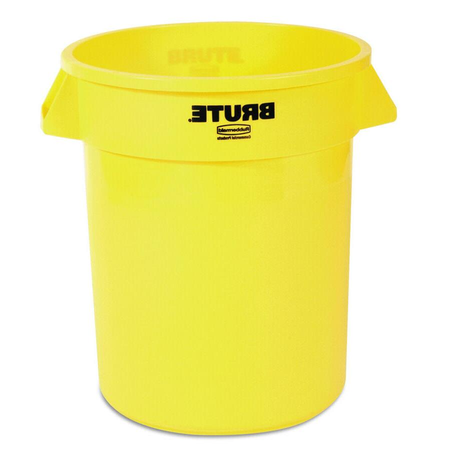 commercial products brute 20 gallon yellow plastic