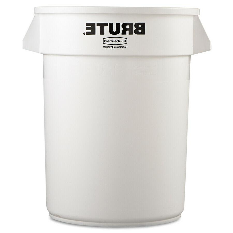 Rubbermaid Commercial Products 32-Gallon White Trash