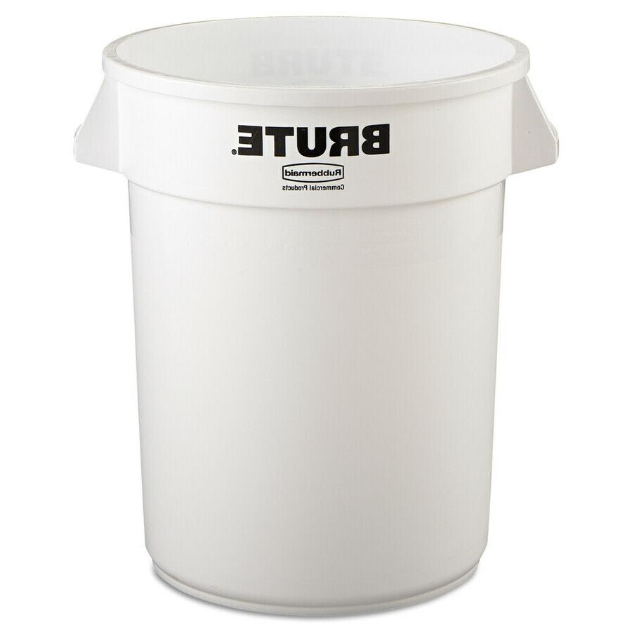 commercial products brute 32 gallon white plastic