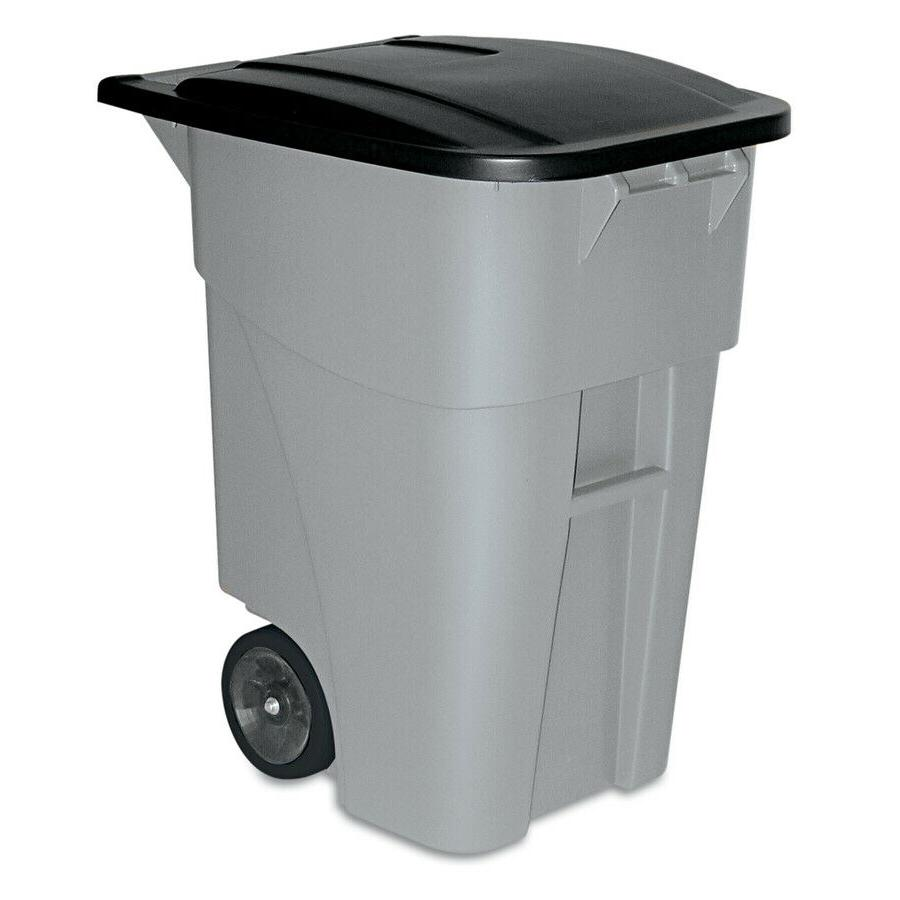 commercial products brute 50 gallon wheeled trash