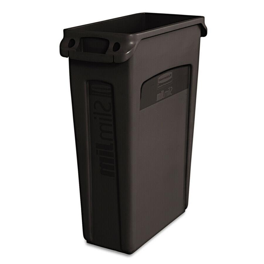 commercial products slim jim 23 gallon black