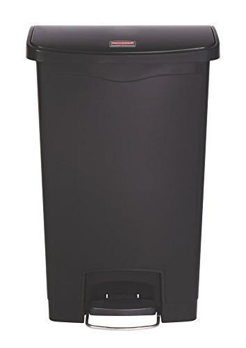 Rubbermaid Jim Black Can Capacity X Width Resin, Plastic, Poly Black