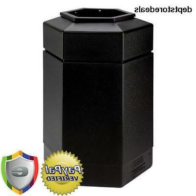 Commercial Zone 737101 30-gallon Hex Waste Container - Black