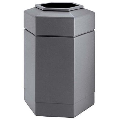 Commercial Zone 737103 30-Gallon Hex Waste Container Gray