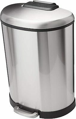 d shaped soft close trash can 50l