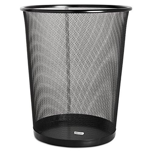 eldon expressions mesh metal wastebasket