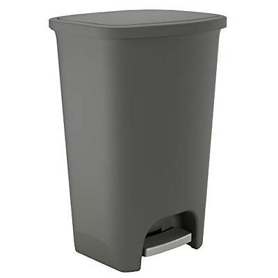extra capacity plastic step trash can clorox