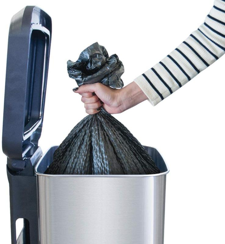 GLAD Capacity Steel Sensor Trash Can with
