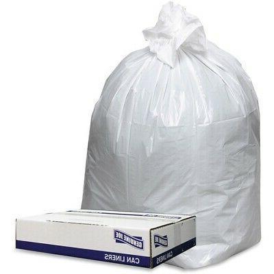Genuine Joe Extra Hvy-duty White Trash Can Liners - 38 Width