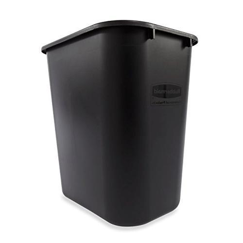 Rubbermaid Plastic Deskside Wastebasket, 7 Quart,