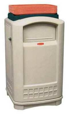 RUBBERMAID COMMERCIAL PRODUCTS FG396300BEIG 50 gal Plastic R