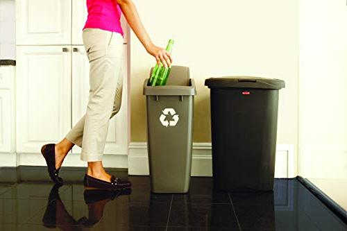 Rubbermaid Spring-Top Can Home, and Garbage, Gallon,