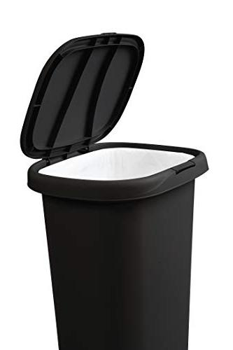 Rubbermaid Spring-Top Lid Can for and Bathroom