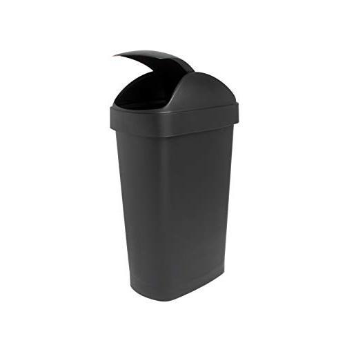 Umbra Flippa Gallon Large Kitchen Trash Can for Commercial Use, 30L, Black