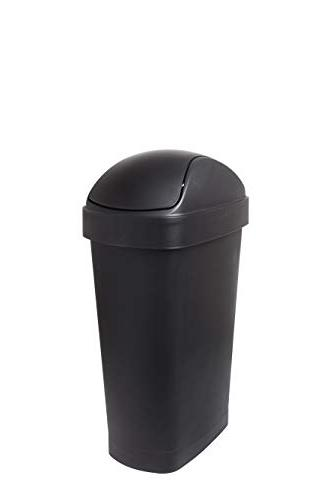 Umbra Flippa 8 Gallon Large Rectangular Kitchen Trash Can with Swing-Top  Lid for Indoor, Outdoor or Commercial Use, 30L, Black