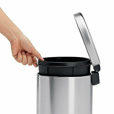 Gallon Touch Trash Can Kitchen Steel Garbage
