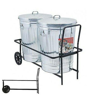 Garbage Can Trash Caddy Capacity Wheels Can