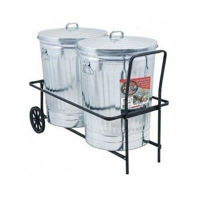 garbage can cart rolling trash
