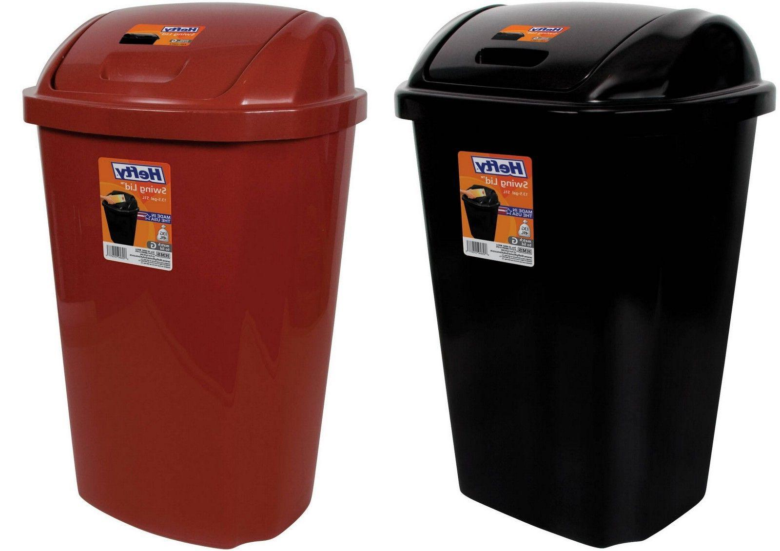 garbage can kitchen wastebasket with swing lid