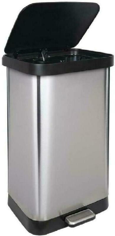 GLAD Stainless Trash Can with Clorox Pr