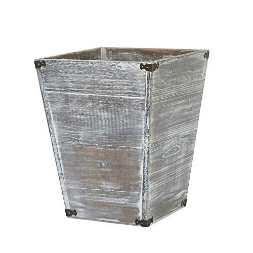 gray farmhouse torched wood square