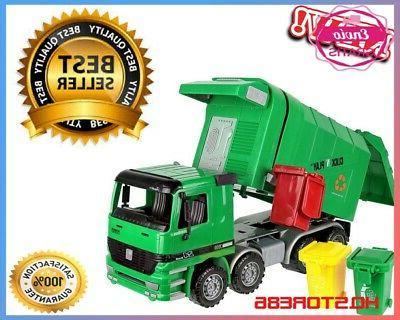 green kids garbage waste rubbish truck toy