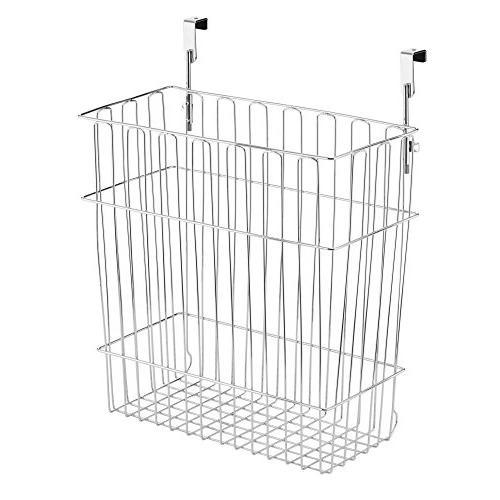 mDesign Over Door Kitchen Storage Organizer Can - Cabinet Doors of 2, Solid Steel Wire
