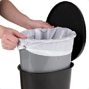 Heavy Duty Garbage Touchless Bin Bathroom Kitchen Foot Step Pedal Lid Trash Can