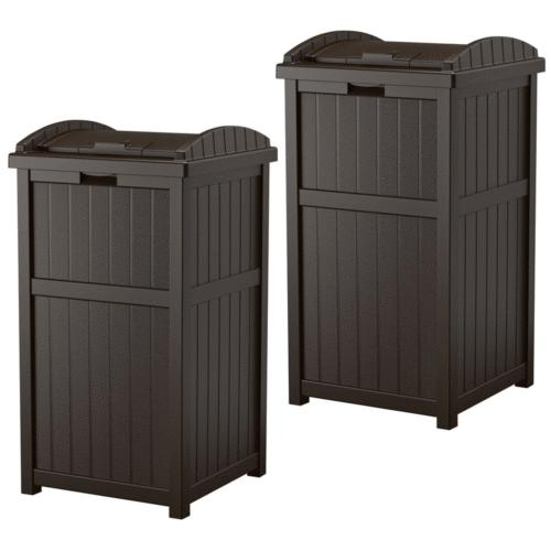 hideaway outdoor 33 gallon garbage waste trash