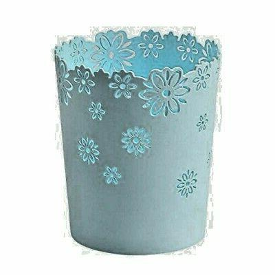 hollow flower shape plastic lidless wastepaper baskets