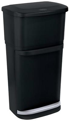 Home Garbage Can Recycling Bins Stackable Center Kitchen Tra