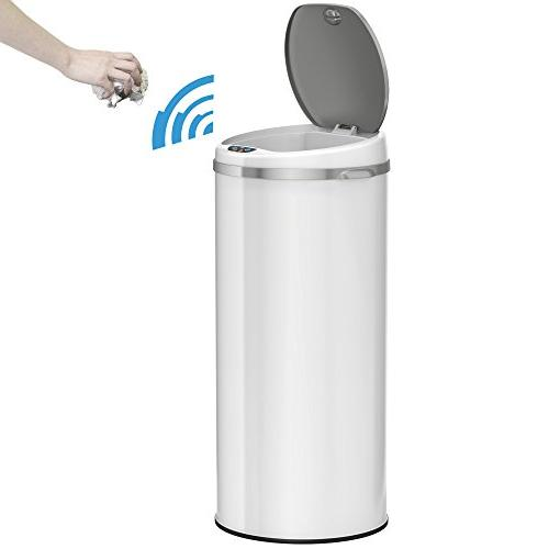iTouchless 13 Gallon Trash Can Control – Round Liter Kitchen