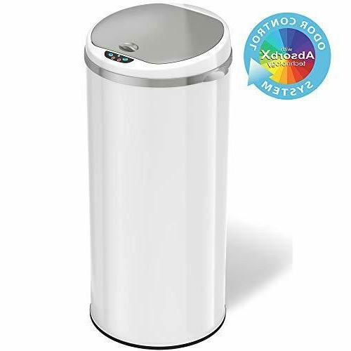 iTouchless 13 Gallon Automatic Trash Can with Odor Control S