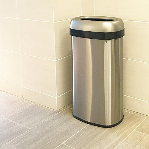 iTouchless Top Can Recycle Bin, Stainless Large for Home, Restaurant, 61