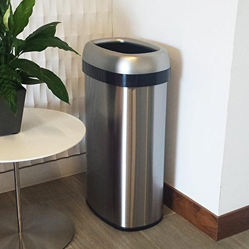 iTouchless Dual-Deodorizer Top Trash Recycle Bin, 16 Stainless Steel Large 12-Inch Home, Restaurant, Restroom, 61 Liter