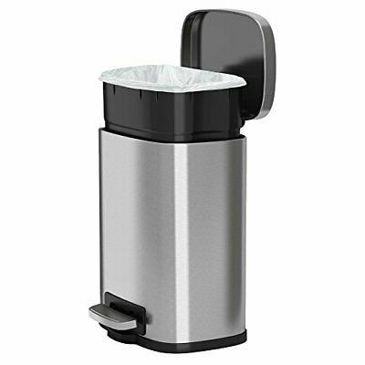 iTouchless SoftStep Step Trash Can Stainless 5 ...