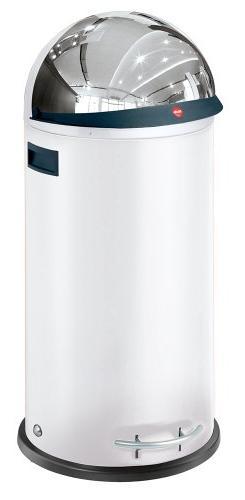 Hailo KickViser 50-Waste Bin, White