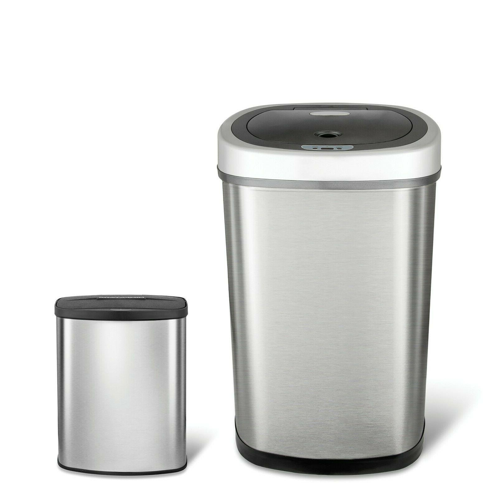 Kitchen Motion Sensor Trash Can Touchless Stainless Steel Ga