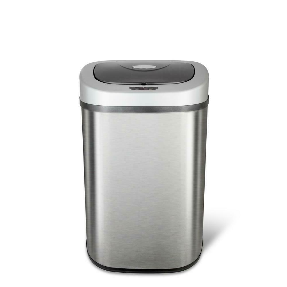 Kitchen Sensor Can Steel Garbage Bin 21