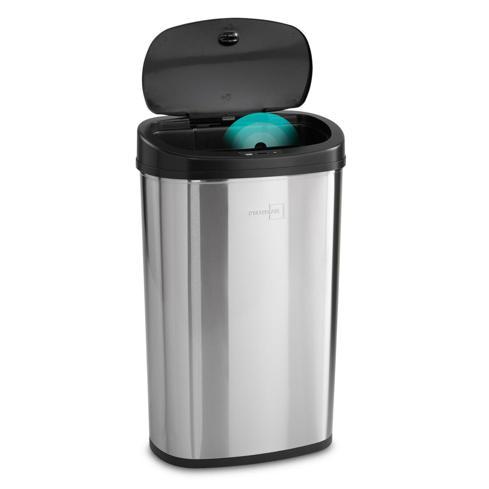 kitchen trash can 13 2 gallon stainless