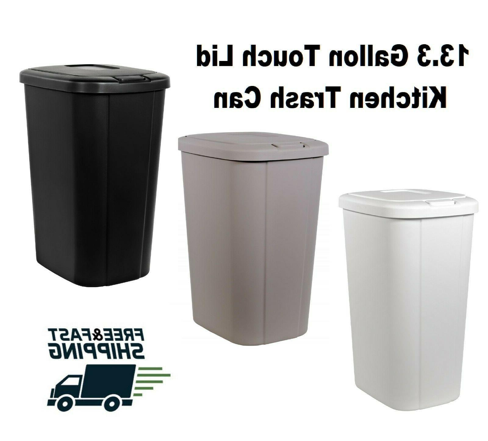 Kitchen Trash Can 13 Gallon Garbage Bin Indoor Waste Basket