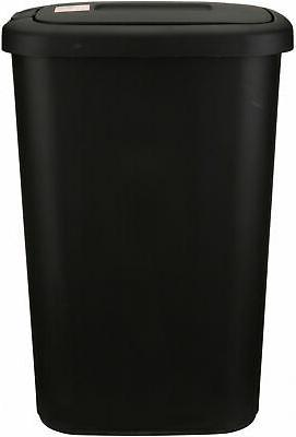 Kitchen Trash 13 Gallon Basket Lid Black
