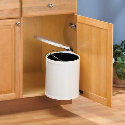 Cabinet Pivot Out Trash Can White Kitchen Under Sink Garbage