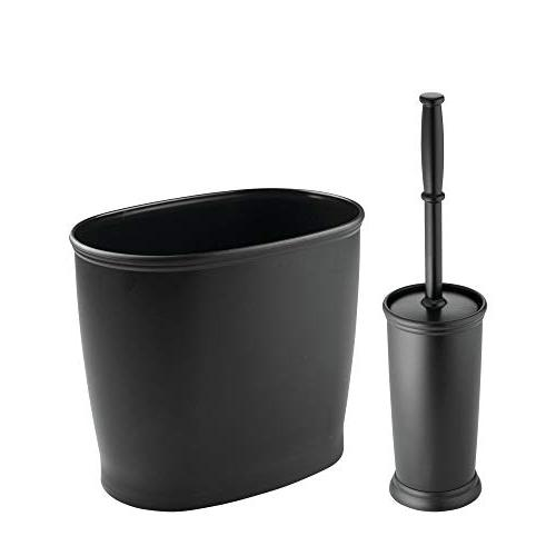 mdesign bathroom storage set wastebasket