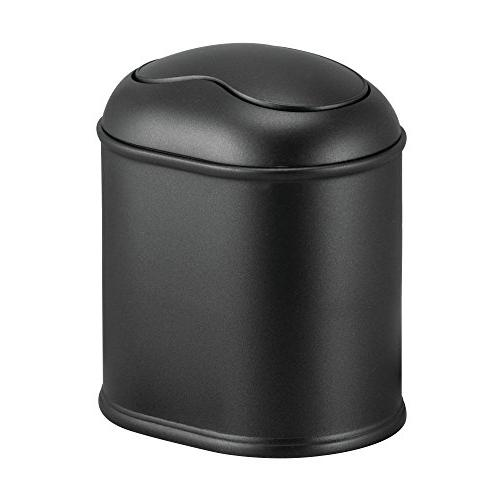 mdesign bathroom vanity countertop wastebasket