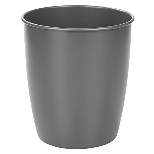 mdesign metal wastebasket trash can